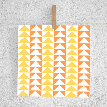 Aztec Digital Paper, Orange And Yellow Tribal Backgrounds, Tribal Paper