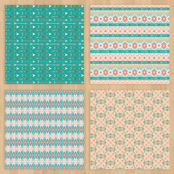 Aztec Digital paper Tribal pattern Boho digital paper Aztec backgrounds