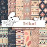 Aztec Digital paper Tribal pattern Boho digital paper Azte