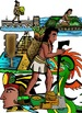 Aztec Empire Clip-Art: 16 Pieces BW and Color