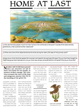 Aztec Empire - Geography, Tenochtitlan, Settlements, Ceremonies, Sacrifices