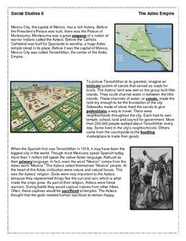 Aztec Empire Reading