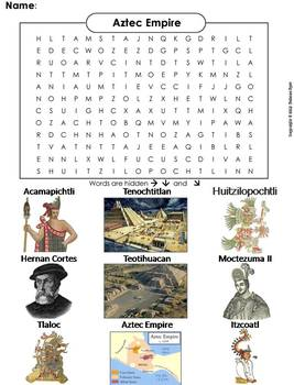 Aztec Empire Word Search