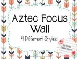 Arrow and Tribal Focus Wall