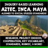 Aztec Inca Maya Inquiry Based Unit Aligned to New Social Studies Standards