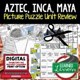 Aztec, Inca, Maya Picture Puzzle Unit Review, Study Guide, Test Prep
