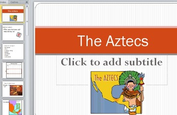 Aztec, Inca, and Maya PowerPoints with Graphic Organizer