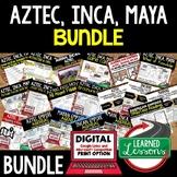Aztec, Inca, Maya BUNDLE  (World History Bundle), Digital