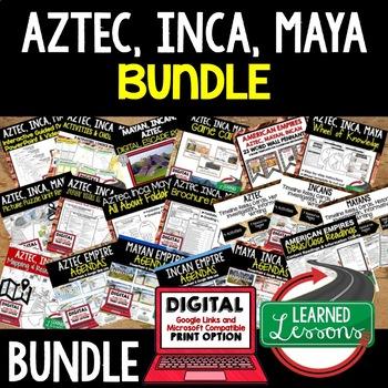 Aztec, Incan, Mayan Empires BUNDLE (World History Bundle)