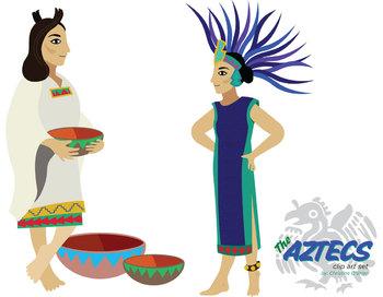 Aztec Indians Clip Art Set