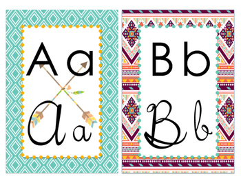 Aztec Inspired Alphabet Set