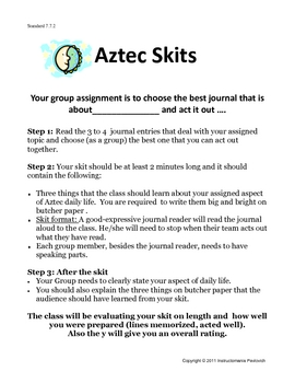 Aztec Journal Skit Project Activity