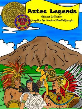 Aztec Legends Clip Art Collection- Commercial Use Graphics