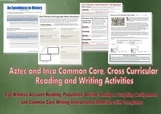 Aztec and Inca Common Core Supplement Actvities