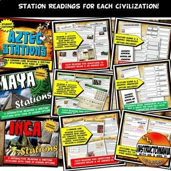 Aztec, Maya, Inca : A Complete Unit Plan Common Core Grade 5-8