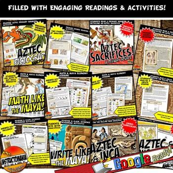 Aztec, Maya, Inca : Unit Plan Lesson Activity Bundle History Common Core 5-8