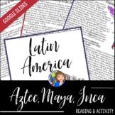 Aztec, Maya and Inca Activity with Google Slides