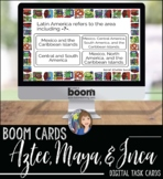 Aztec, Maya, and Inca Review Game BOOM CARDS for Distance