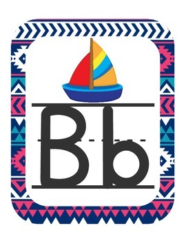 Aztec Navy & Pink ABC Printables (with pictures)