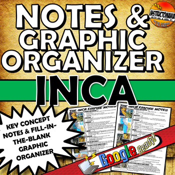 Inca One Pager CLOZE Notes Rise and Decline of Inca & Graphic Organizer