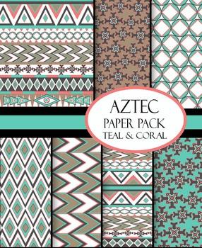 Digital Paper Aztec