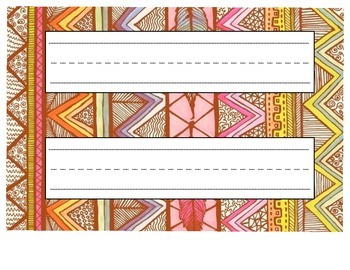 Aztec Pattern Name Plates