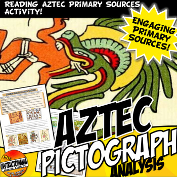 Aztec Pictograph Analysis Common Core Writing  Primary Source Activity