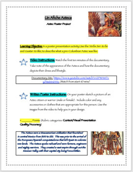 Aztec Poster Activity (for Spanish or World Cultures Class)