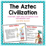 Aztec Poster Map and Interactive Notebook INB Set