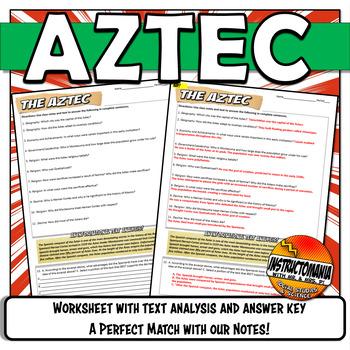 Aztec Powerpoint Worksheet Graphic Organizer