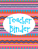 Aztec Printable Binder Cover Teacher Binder