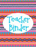 Aztec Printable Binder Cover Teacher Binder