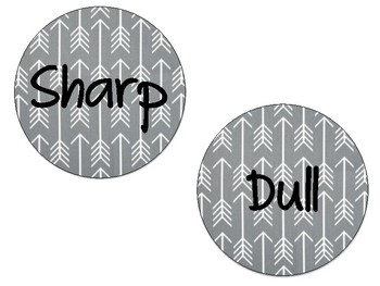 Arrow and Tribal Sharp and Dull Pencil Labels