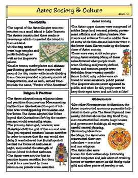 Aztec Society & Culture