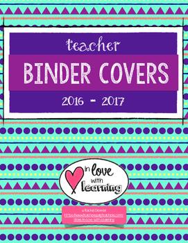 Aztec Teacher Binder Covers
