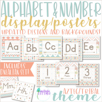 Aztec / Tribal Alphabet and Number Display {Classroom Decor}