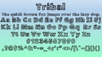 Aztec Tribal Bubble Letters