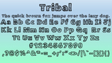 Aztec Tribal Bubble Letters