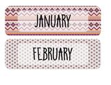 Classroom Calendar - Tribal