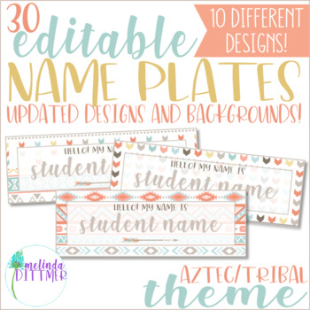 tribal name plates teaching resources teachers pay teachers