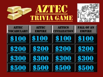Aztec Trivia Game:  Fun Stuff