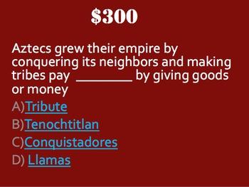 Aztec Trivia Game:  Fun Stuff