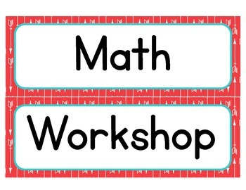Aztec Turquoise & Red Classroom Math/ Center Workshop Setup