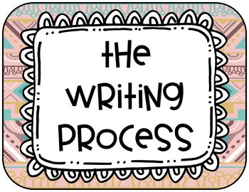 Writing Process - Tribal