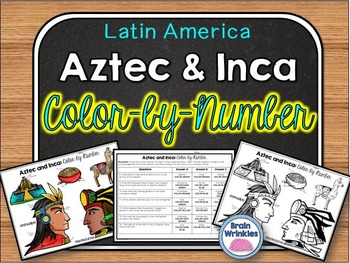 Aztec and Inca Color-by-Number Activity