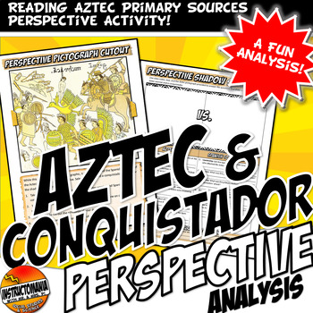 Aztec & Conquistador Shadow Cut Out Activity with Primary Source Document
