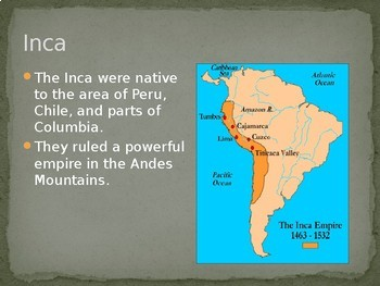 Aztec and Inca PowerPoint for Middle School History