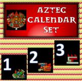 Aztec calendar set (in Spanish)