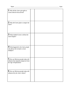 Aztec handout and questions