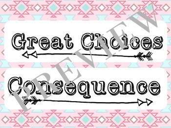 Aztec/Tribal Behavior Clip Chart